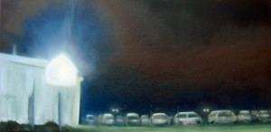 "Window Shopping: Car Lot 1 . 2011, 15"" x 30"""